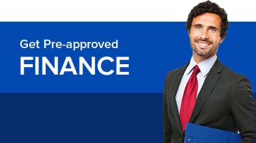 get Pre-Approved Finance graphic showing a finance advisor